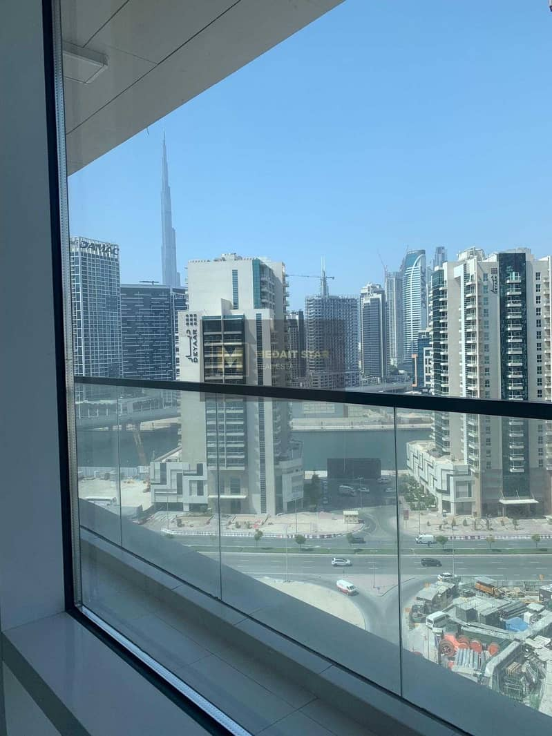2 No Commission   Ready to Move In   spacious 1BR view  on Canal and Burj Khalifa