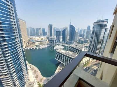 شقة 1 غرفة نوم للايجار في جميرا بيتش ريزيدنس، دبي - Panoramic Marina View | 2 Balconies | 2 Parking