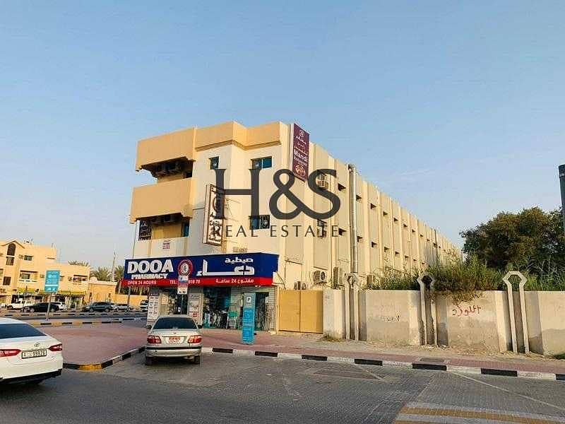 A Newly Renovated Commercial & Residential  Corner Building available at prime location in Ajman Industrial  1