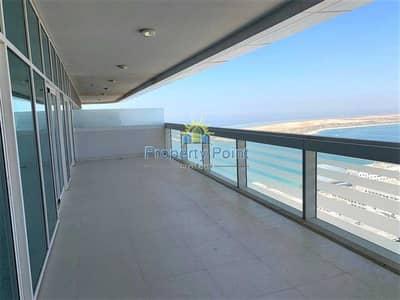 شقة 3 غرف نوم للايجار في الخالدية، أبوظبي - City and Sea View | 1-4 Payments | Huge 3-bedroom Unit | Maids Rm | Parking and Facilities