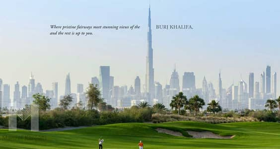 Plot for Sale in Dubai Hills Estate, Dubai - largest villa plot in Emerald Hills - full golf course view