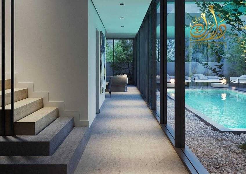 تملك فيلا 5 غرف بمسبح خاص بالشارقة بمقدم 5% فقط