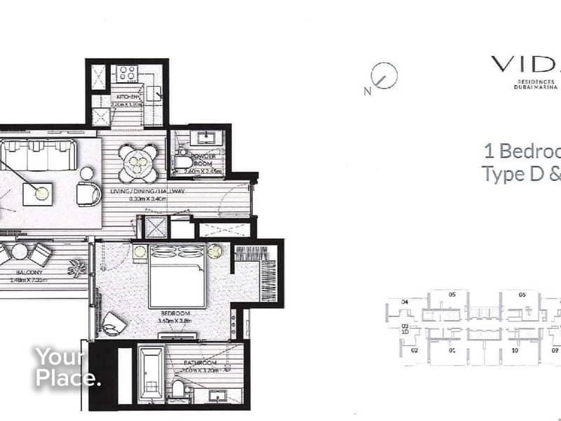 9 Re-sale  - Marina Views - Middle floor