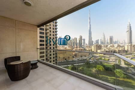 Stunning Burj Khalifa and Downtown Views | Fully Furnished & Elegantly Classic 2 Beds