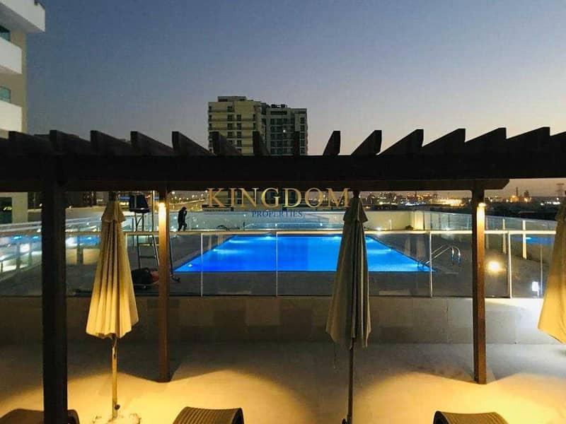 Huge Terrace| pool view| 1BR| chiller free| farishta Al Furjan