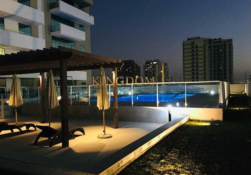 2 Huge Terrace| pool view| 1BR| chiller free| farishta Al Furjan