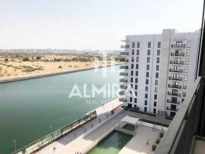 Studio for Rent in Yas Island, Abu Dhabi - Brand New I High Floor w/ canal view for 2 chqs!