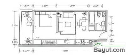 Studio Apt Plan