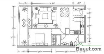 Floors (32-35) Apt Plan 1 Bedroom