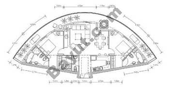 Floors (36-37) Apt Plan 2 Bedroom