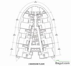 Floors (36-37) Floor Plan 2 Bedroom