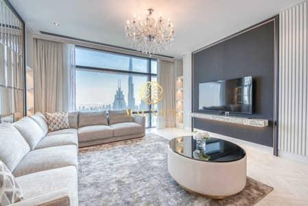 شقة 2 غرفة نوم للايجار في مركز دبي المالي العالمي، دبي - Luxury Furnished | Burj Khalifa View | Fully Upgraded