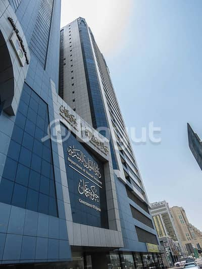 مکتب  للايجار في الوان، عجمان - مكاتب برج الديوان مباشرة من المالك