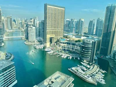 فلیٹ 1 غرفة نوم للبيع في دبي مارينا، دبي - Full Marina View / High Floor / Perfect 1 BED!