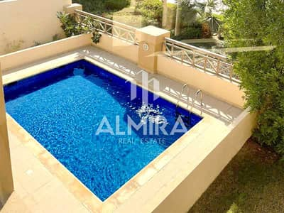 5 Bedroom Villa for Sale in Al Raha Golf Gardens, Abu Dhabi - Your dream home w/ pool and golf course view