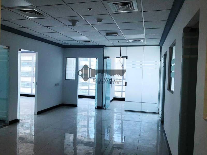 Well Designed Spacious & Fully Fitted Office with Partitions - 2 Parking free