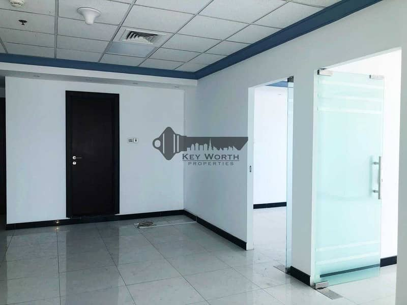 2 Well Designed Spacious & Fully Fitted Office with Partitions - 2 Parking free