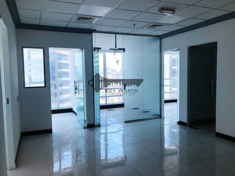 14 Well Designed Spacious & Fully Fitted Office with Partitions - 2 Parking free