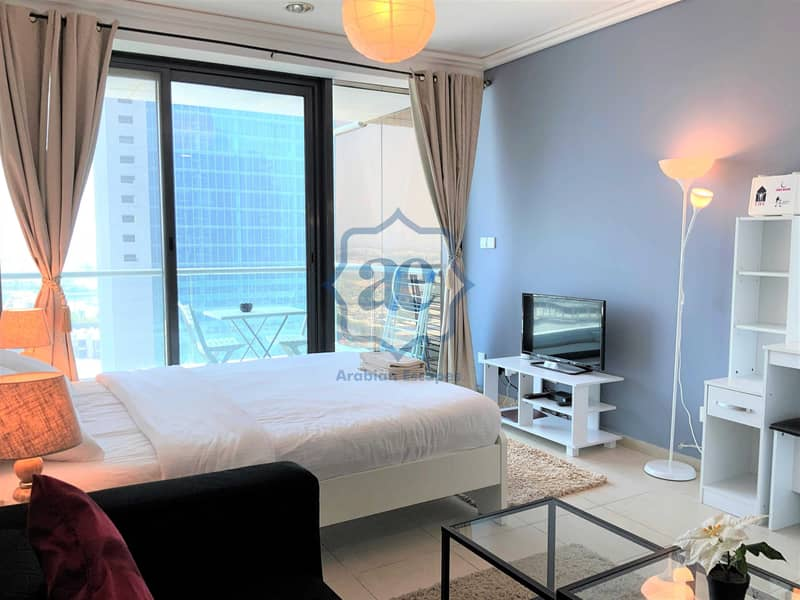 Studio with balcony near Metro and Almas Tower | All Utilities Included!