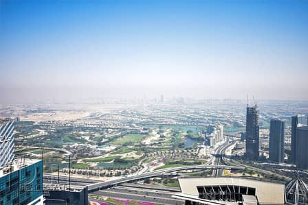 3 Bedroom Flat for Rent in Dubai Marina, Dubai - High Floor. 3BR. Full golf course. Sea view