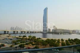 Stunning Lake view 2bed in Festival City