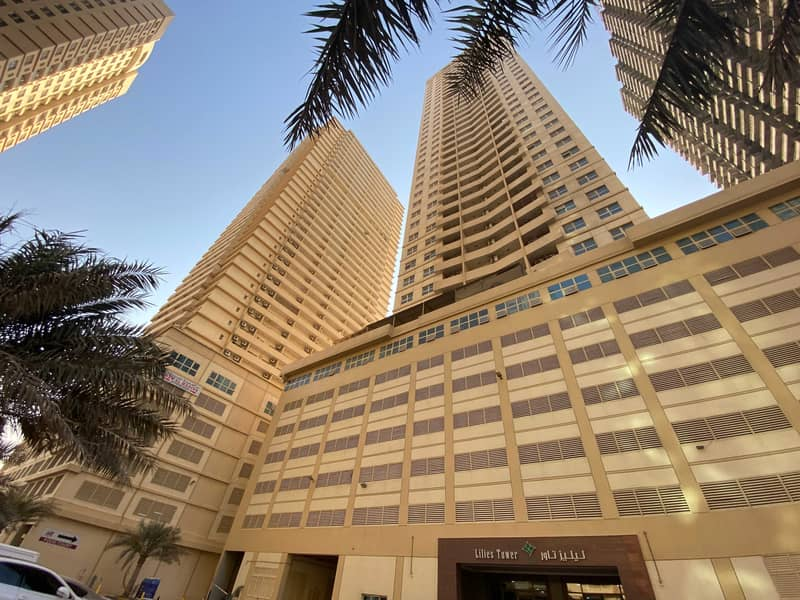 شقة في برج الزنبق مدينة الإمارات 2 غرف 22000 درهم - 5200510