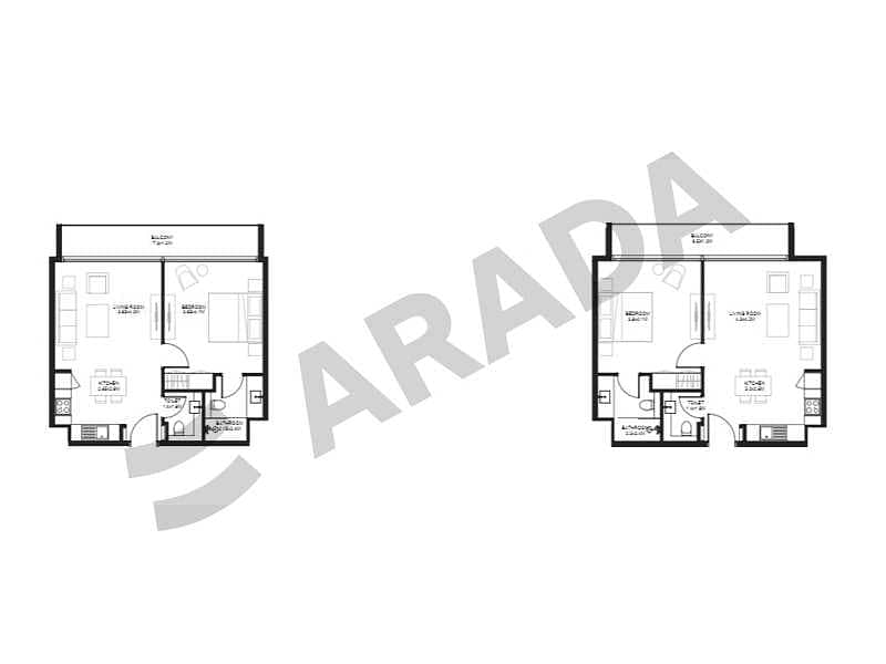 6 Spacious 1BHK | Easy Payment Plan