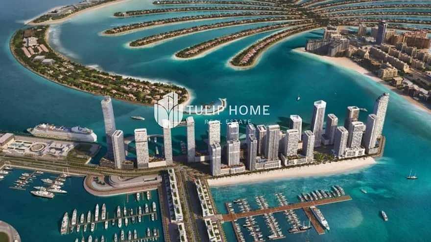 Palm   Sea   Bleu Waters & Marina View. .