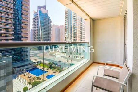 شقة 1 غرفة نوم للايجار في دبي مارينا، دبي - Exclusive|Pool View|Spacious|Fully Furnished