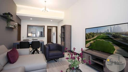 2 Bedroom Flat for Rent in Jumeirah Village Circle (JVC), Dubai - Living room
