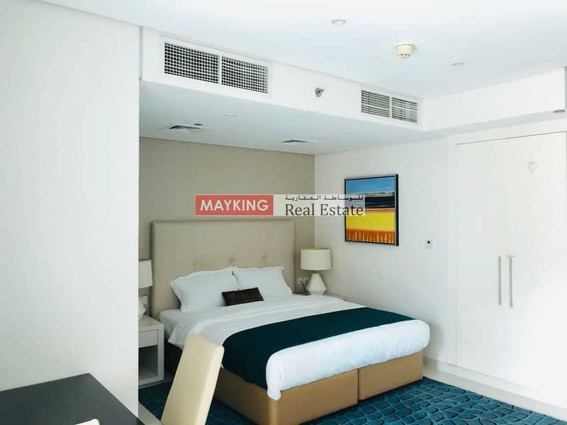 Huge Balcony   Higher Floor   Lake and Burj Khalifa View   5 Star Hotel Furnished Studio