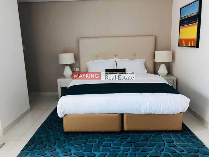 2 Huge Balcony   Higher Floor   Lake and Burj Khalifa View   5 Star Hotel Furnished Studio