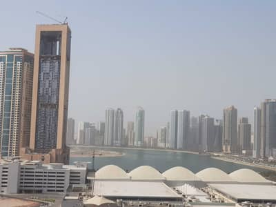 3 Bedroom Apartment for Rent in Al Taawun, Sharjah - 20 days free sea view spacious 3bhk with balcony,wardrobe,parking,master bedroom,gym,pool,kids play area