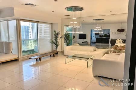 2 Bedroom Flat for Rent in Jumeirah Lake Towers (JLT), Dubai - Very Unique | 2 Bedroom + Study | Upgraded