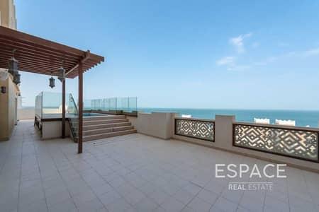 بنتهاوس 4 غرف نوم للبيع في نخلة جميرا، دبي - Vacant   Upgarded 4 Bed Duplex Penthouse   Private Pool