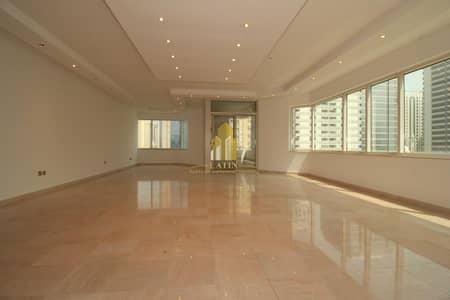 شقة 4 غرف نوم للايجار في شارع السلام، أبوظبي - Clean & Spacious 4 Bedroom + Maid's flat !    well-finished brand-new  interior look!