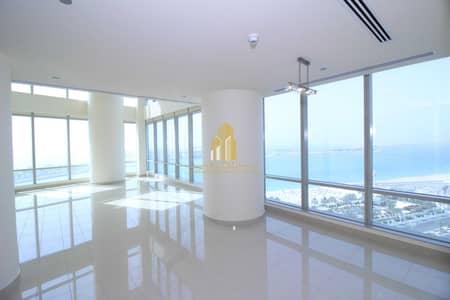 3 Bedroom Flat for Rent in Corniche Area, Abu Dhabi - Breathtaking SEA & CORNICHE VIEW Duplex of 3 BR + MAID's | PRIME Location !