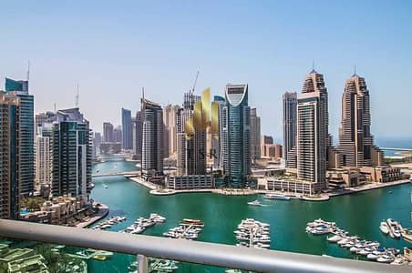 1 Bedroom Apartment for Rent in Dubai Marina, Dubai - Spectacular Marina View   Spacious Unit   Emaar Six