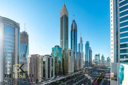 شقة 3 غرف نوم للايجار في شارع الشيخ زايد، دبي - شقة في أبراج لام تارا التوأم شارع الشيخ زايد 3 غرف 95000 درهم - 5354658