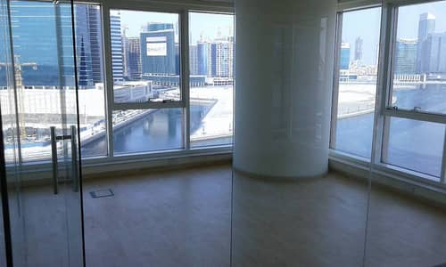 Fitted Office w/ Burj and Greeks Lakes View in Business Bay