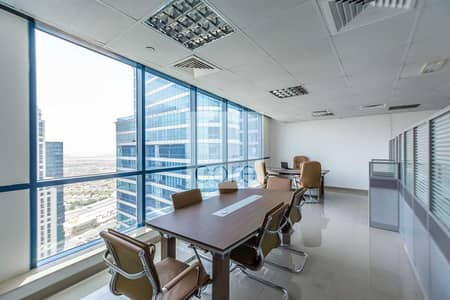Office for Rent in Jumeirah Lake Towers (JLT), Dubai - Fitted and Furnished | High Floor | Pantry