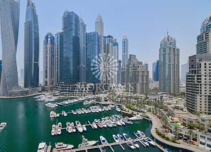 2 Bedroom Flat for Rent in Dubai Marina, Dubai - Furnished   Study Room   Marina View