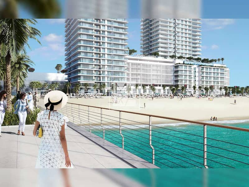 2 Prestigious Beach Residence   Exceptional View with Private Beach Access   Exclusive 1 Bedroom Apartment