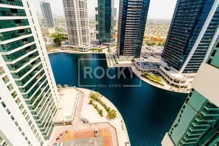 شقة 2 غرفة نوم للايجار في أبراج بحيرات الجميرا، دبي - High Floor|Marina View|2 Bed| plus Maids