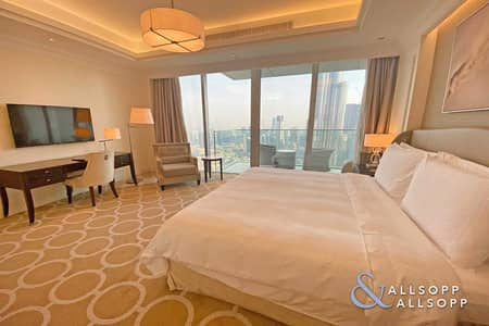 2 Bedroom Apartment for Rent in Downtown Dubai, Dubai - Burj View   2 Bedrooms   Fully Serviced
