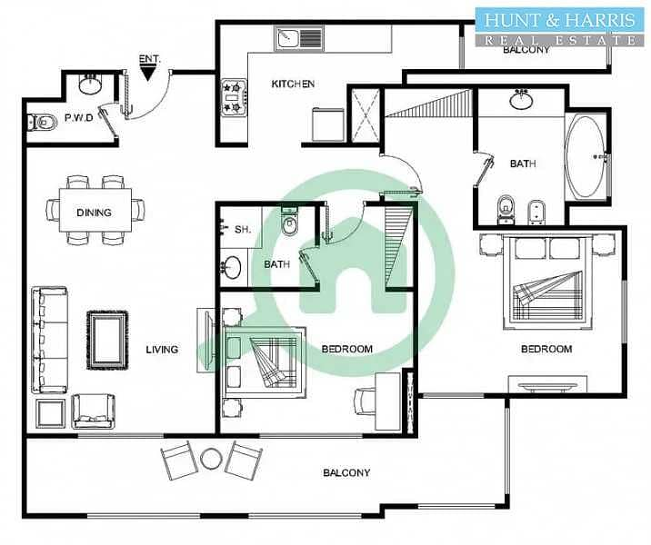 21 Fantastic Sea Views - Two Bedroom Apartment - High Floor