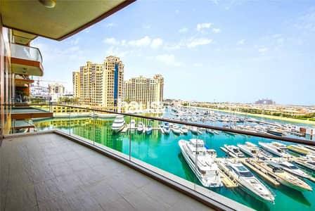 شقة 2 غرفة نوم للبيع في نخلة جميرا، دبي - Stunning views | 2 bed + Study | Fitted kitchen