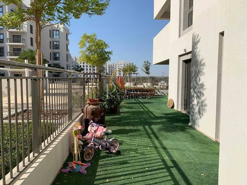 19 PODIUM LEVEL LANDSCAPED TERRACE LIKE BALCONY  DIRECT ACCESS TO AMMENTIES