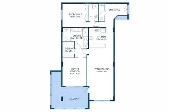 11 2 Bed | D Type | Low Floor | Cheapest Unit