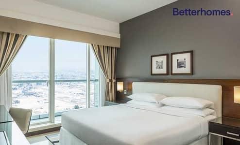 شقة فندقية 1 غرفة نوم للايجار في شارع الشيخ زايد، دبي - Panoramic View  Mid/High Floor  Furnished  Classic